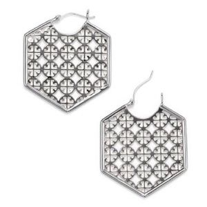 Tory Burch Perforated Logo Earrings